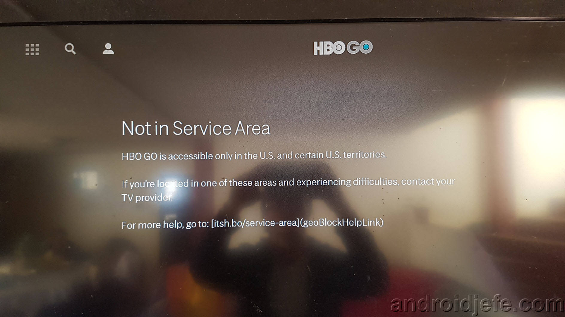 "Error ""Not in service area"" de HBO Go en Amazon Fire TV Stick"