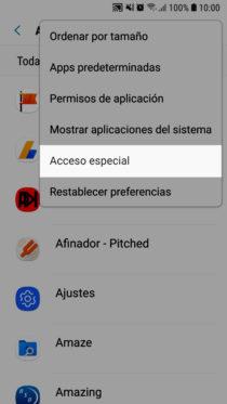 aplicaciones con acceso especial android