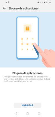 bloqueo de aplicaciones huawei