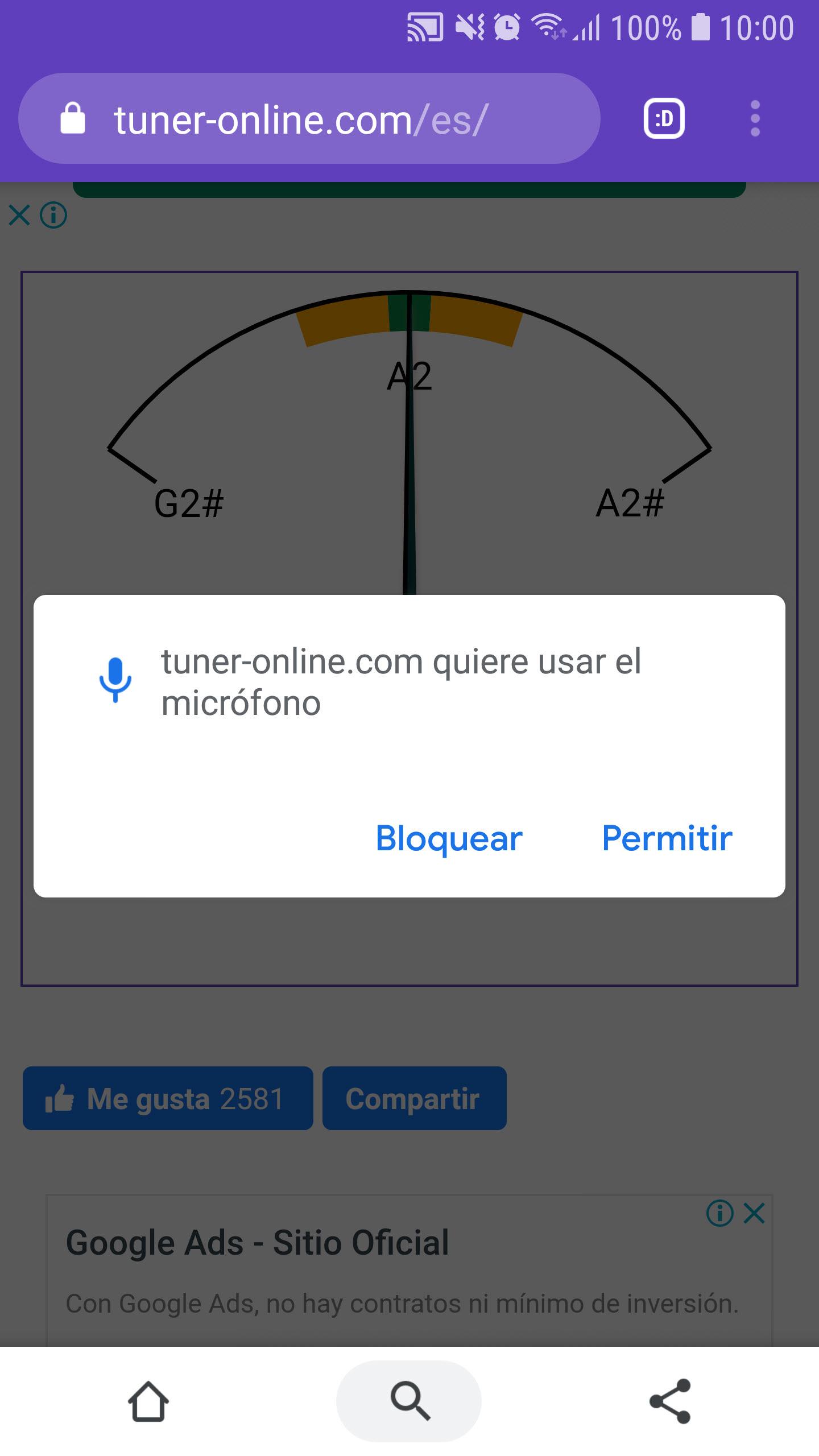 Por qué no funciona el botón «Bloquear» y «Permitir» en Google Chrome