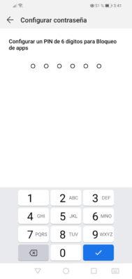 configurar pin bloquear aplicaciones android