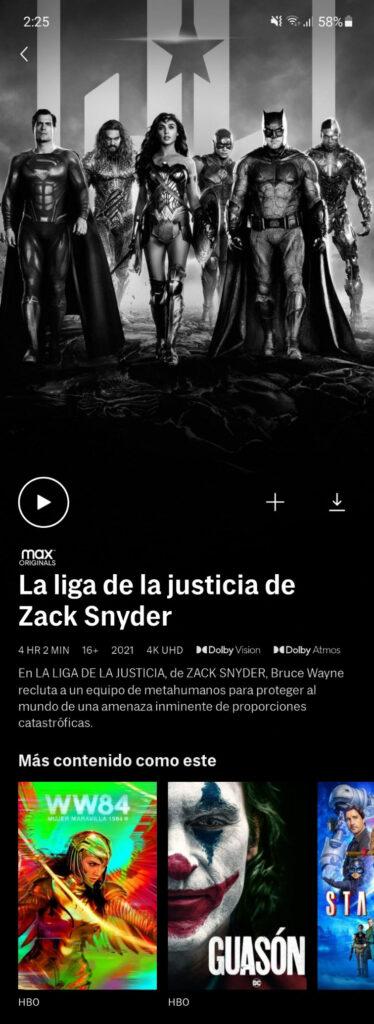 hbo max liga de la justicia zack snyder