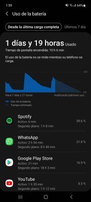 aplicaciones que consumen bateria samsung galaxy android 11