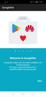 instalar google play huawei