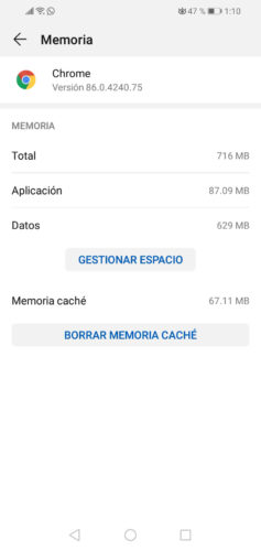 borrar cache chrome
