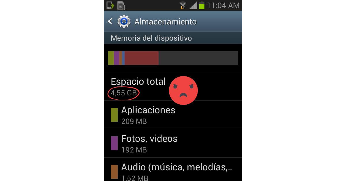 Por qué tu celular no tiene el almacenamiento que indica el fabricante?