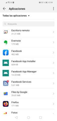 como desactivar aplicaciones en Huawei 1