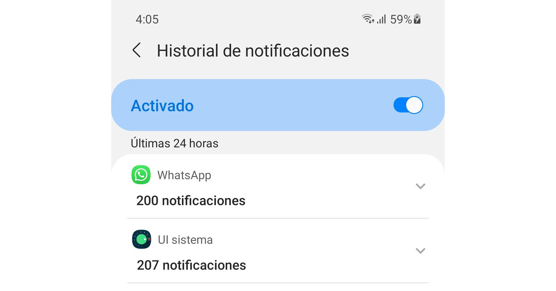 Cómo ver el historial o registro de notificaciones en Android