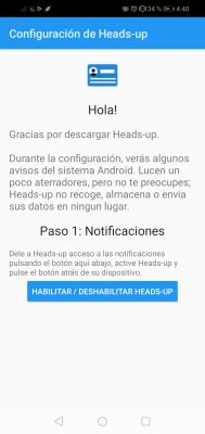 configurar heads up notificaciones en pantalla 1