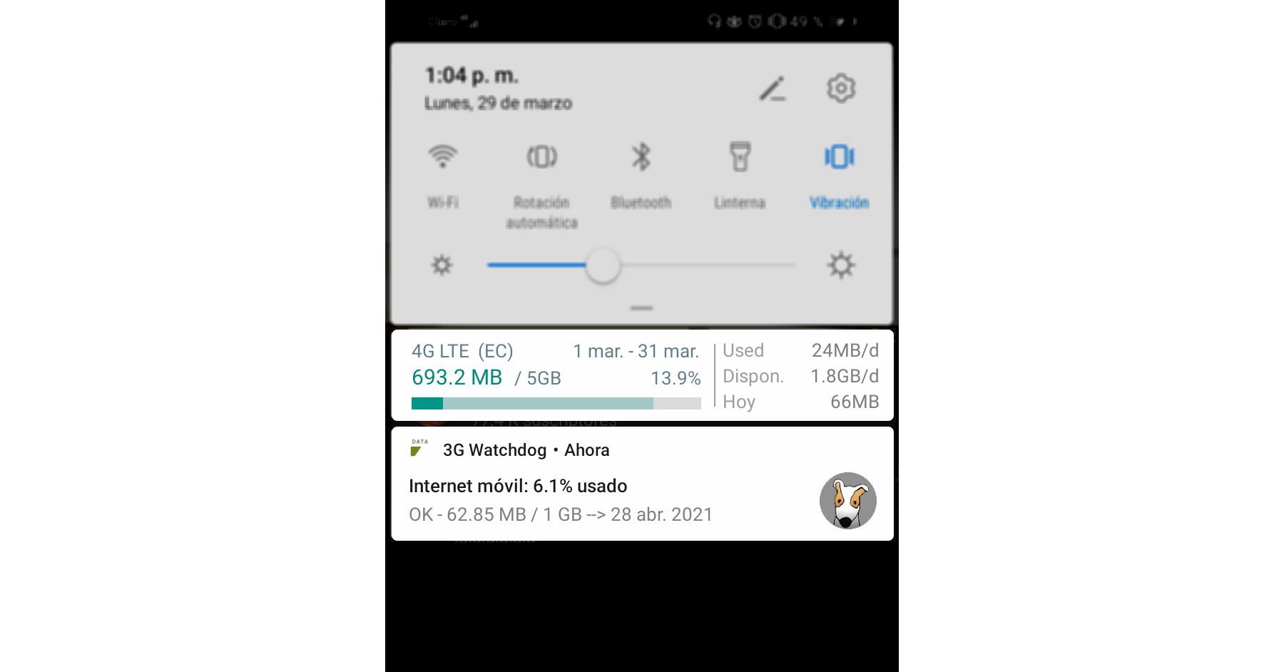 monitor de uso de datos android apps