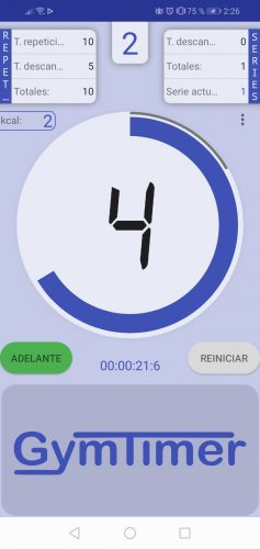 clock with timer and exercise timer 16