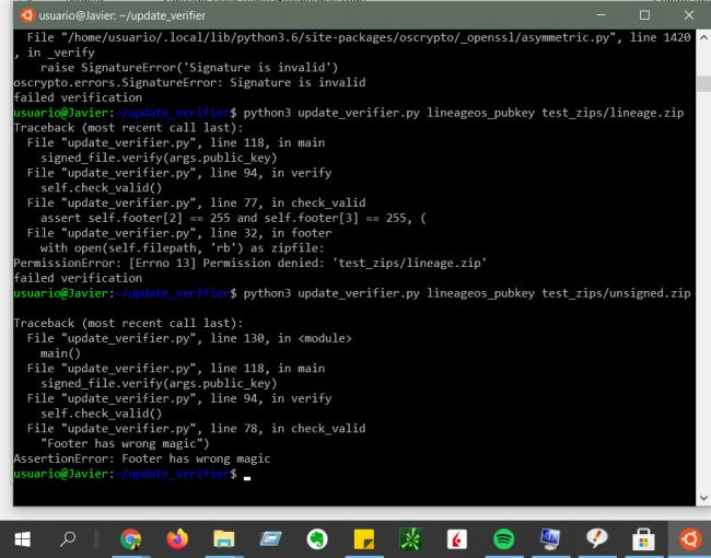 using the Linux Ubuntu command line on Windows 10