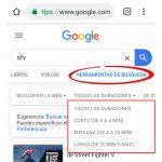 cómo buscar un video en google filtros búsqueda