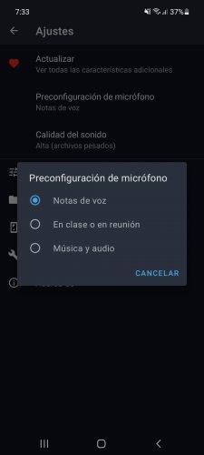 configurar microfono grabacion de voz