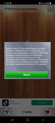 grabadora de voz avanzada android