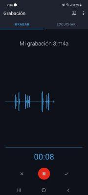grabadora de voz facil grabando
