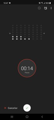 grabar voz con smart recorder ajustar volumen