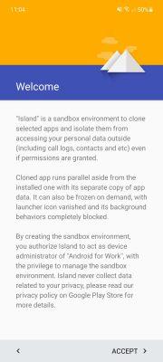 isla de aplicaciones en android