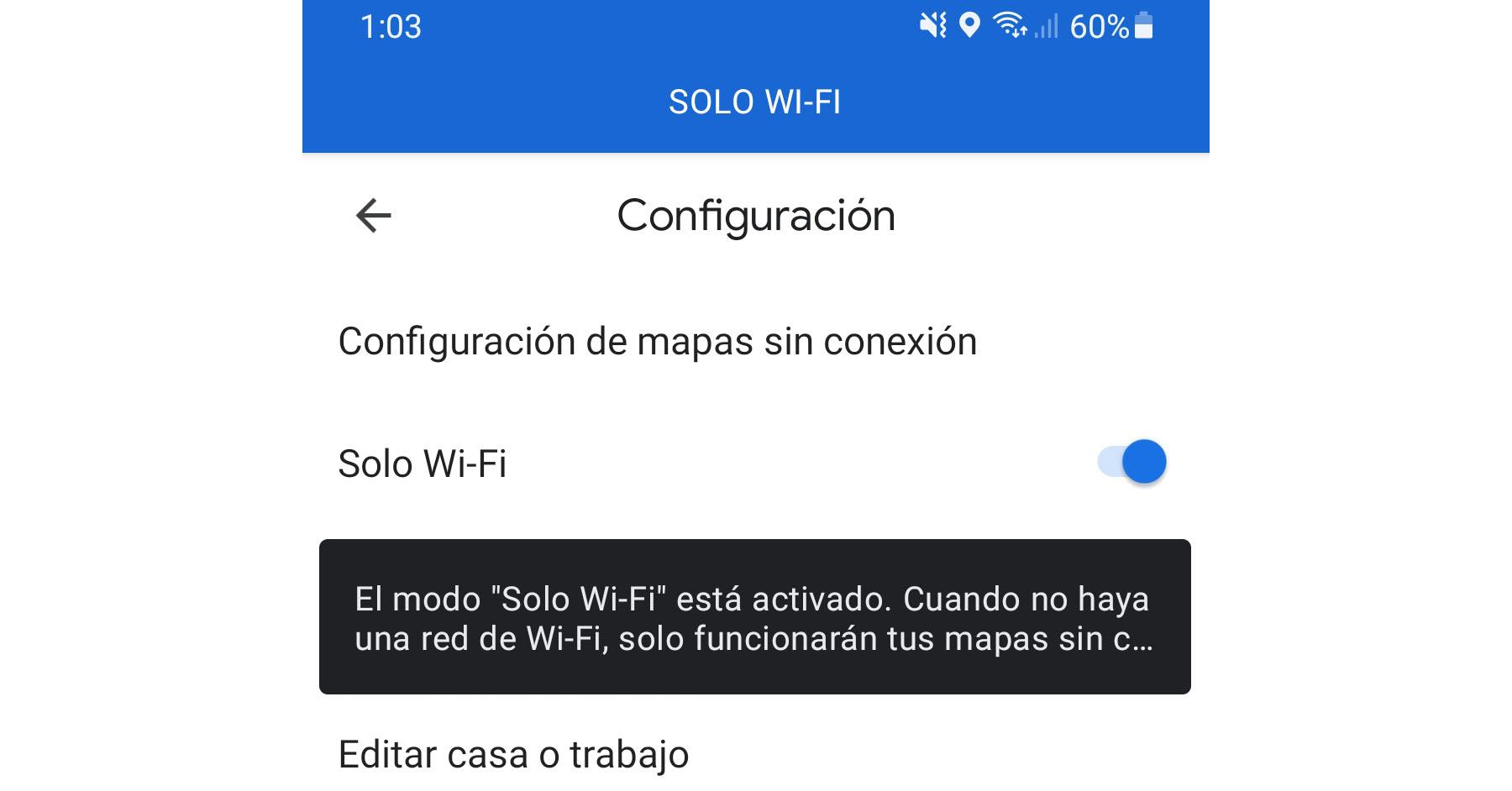 Bloquea los datos móviles a Google Maps (ahorrar datos) y mueve tus mapas a la tarjeta SD